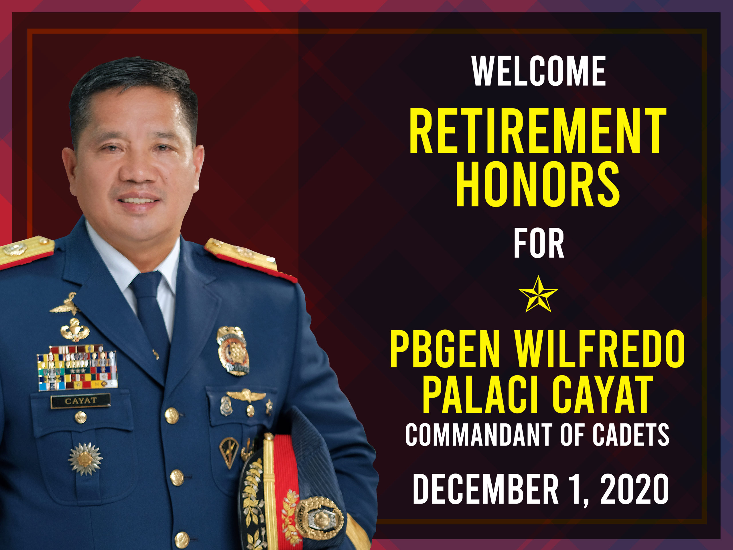 PNPA COMMANDANT OF CADETS RETIRES FROM SERVICE